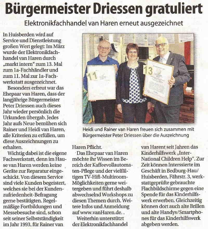 Klever Wochenblatt 08.Mai.2019