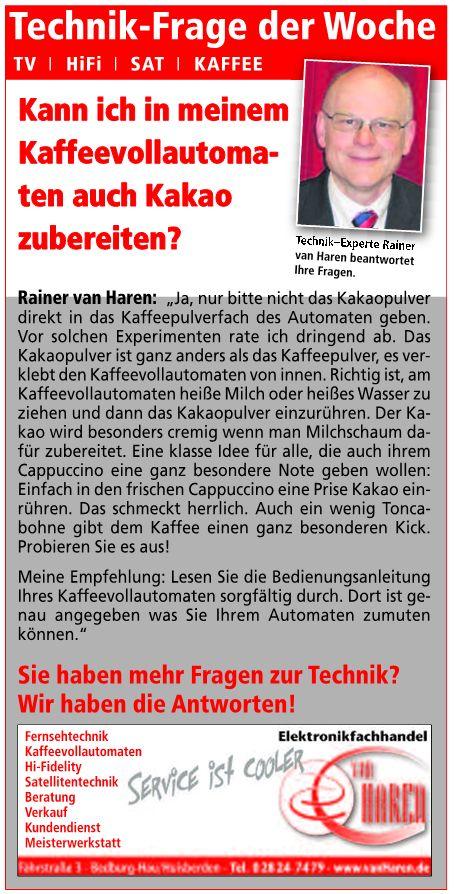 Technikfrage EFH van Haren