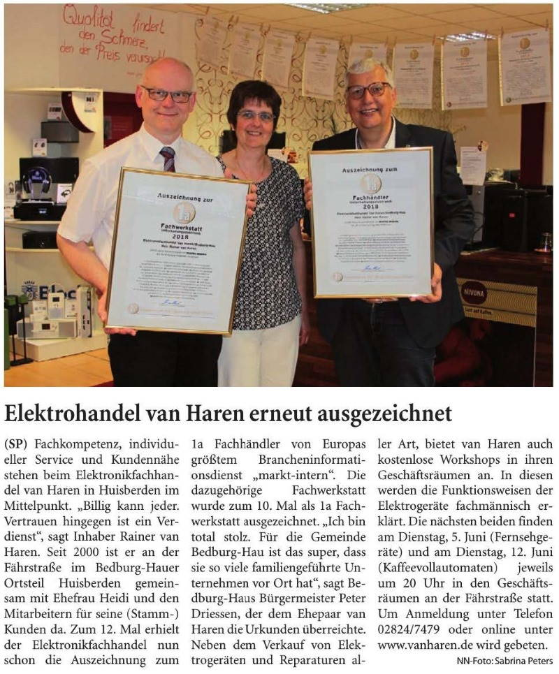 Niederrhein-Nachrichten 26.Mai.2018