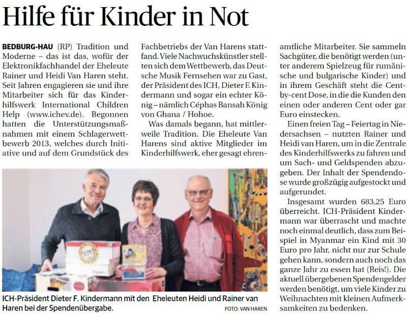 Rheinische Post 22.November.2018